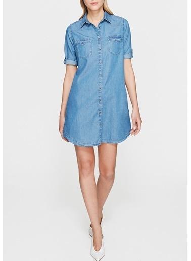 Mavi Jean Elbise İndigo